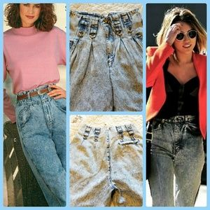 Vintage 80s high waisted pleated jeans